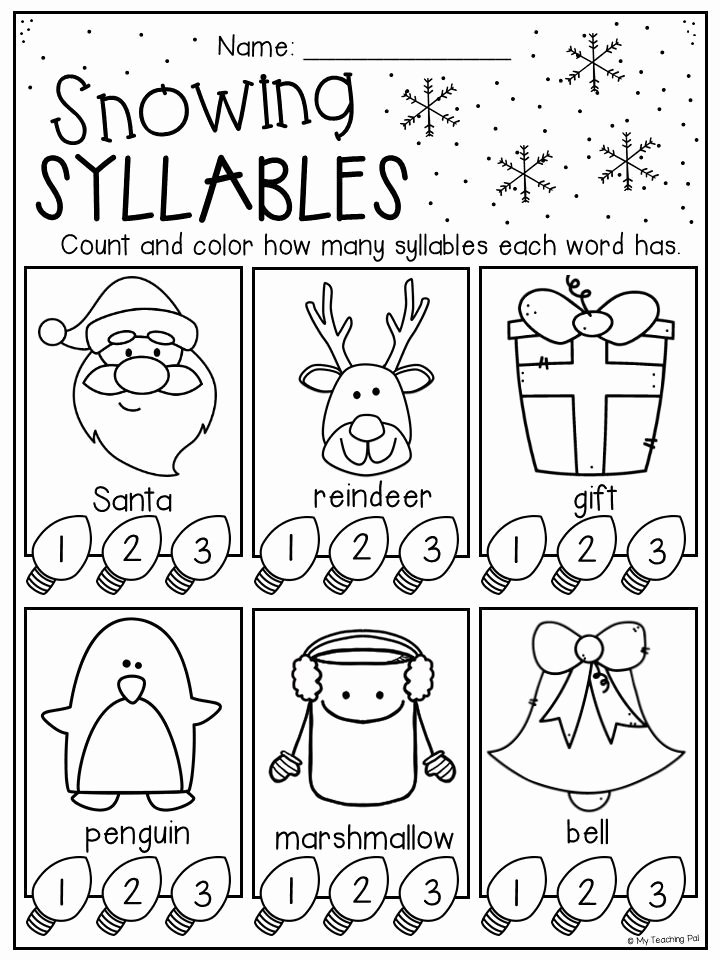 Christmas Worksheets for Preschoolers Unique Christmas Worksheet Booklet Kindergarten First Grade