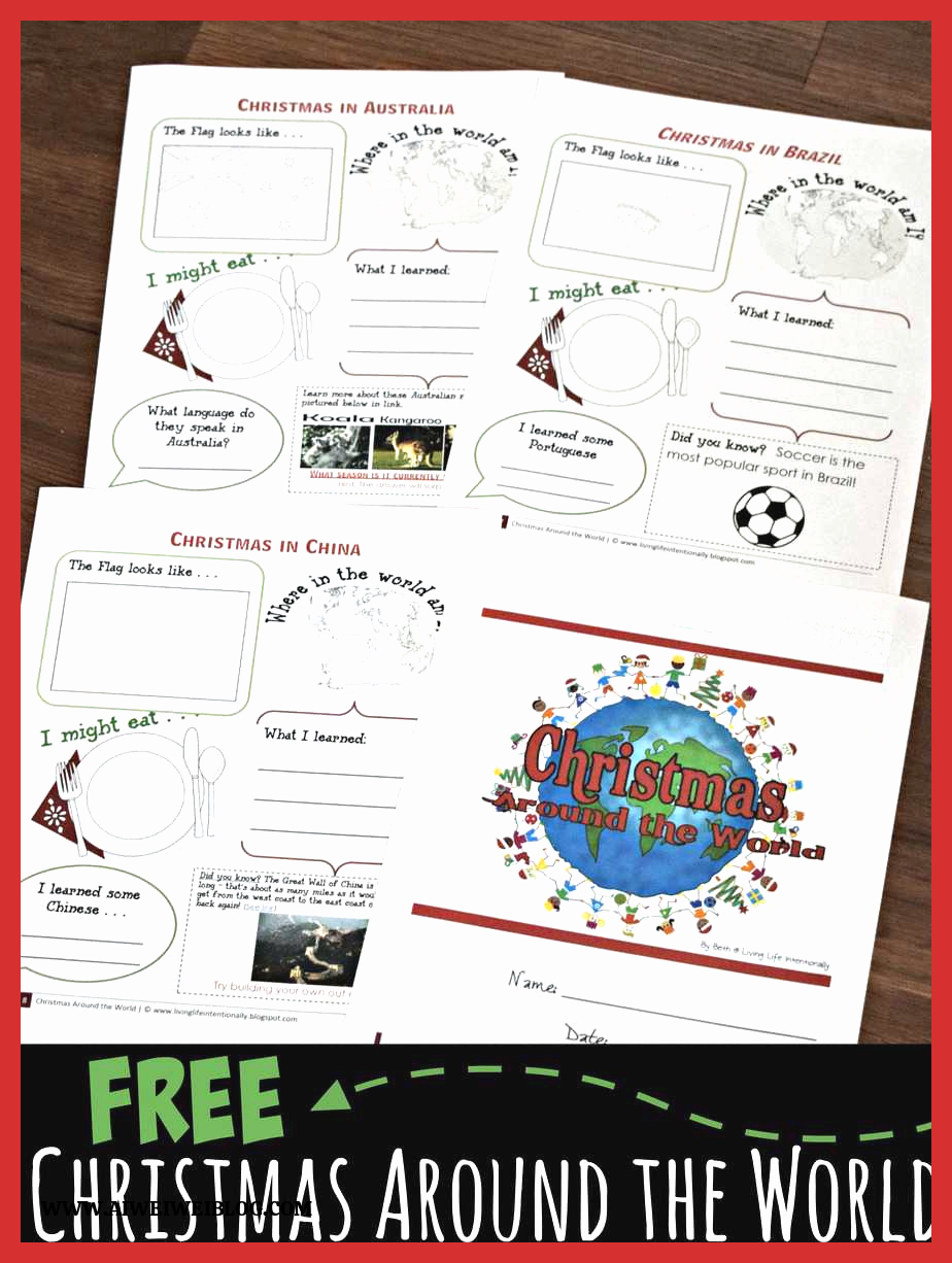 Christmas Worksheets Ideas for Kids Fresh Free Christmas Around the World Worksheets for Kids Activities