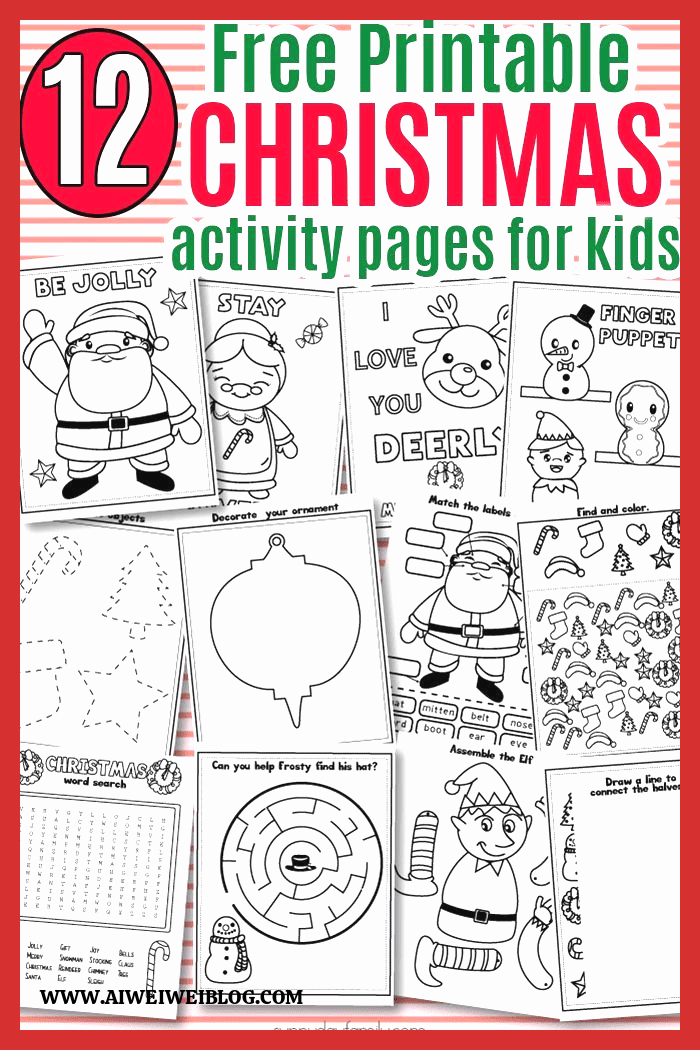 Christmas Worksheets Ideas for Kids Lovely Free Printable Christmas Activity Pack for Kids Christmas