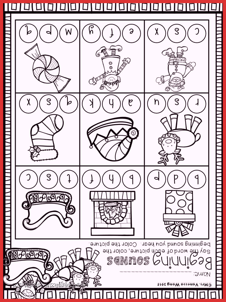 Christmas Worksheets Ideas for Preschoolers Beautiful Christmas Math and Literacy Pack Kindergarten Beginning