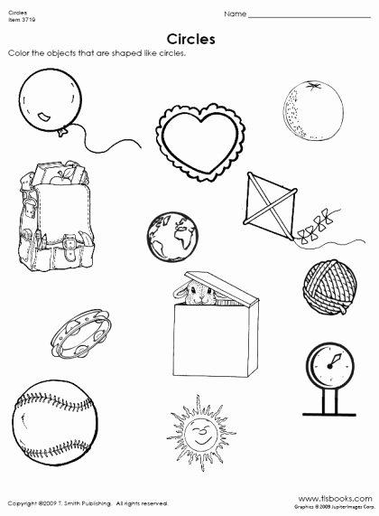 Circle Shape Worksheets for Preschoolers Beautiful Finding Circles Worksheet