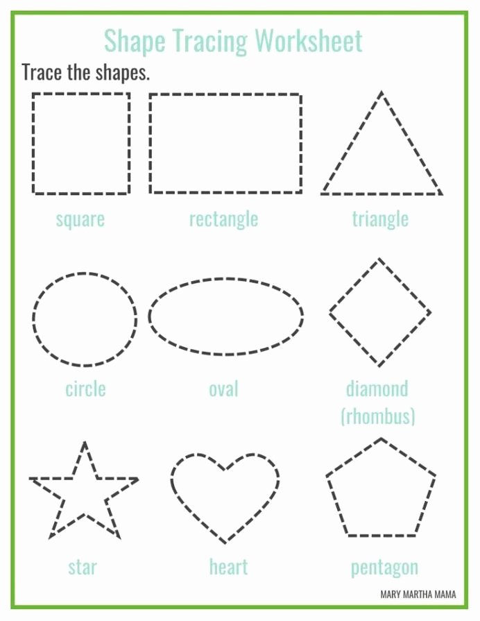 Circle Shape Worksheets for Preschoolers Beautiful Shapes Worksheets for Preschool Free Printables Shape