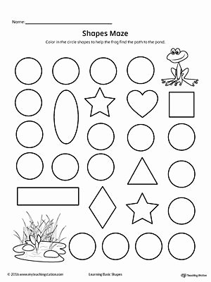 Circle Shape Worksheets for Preschoolers Fresh Circle Shape Maze Printable Worksheet