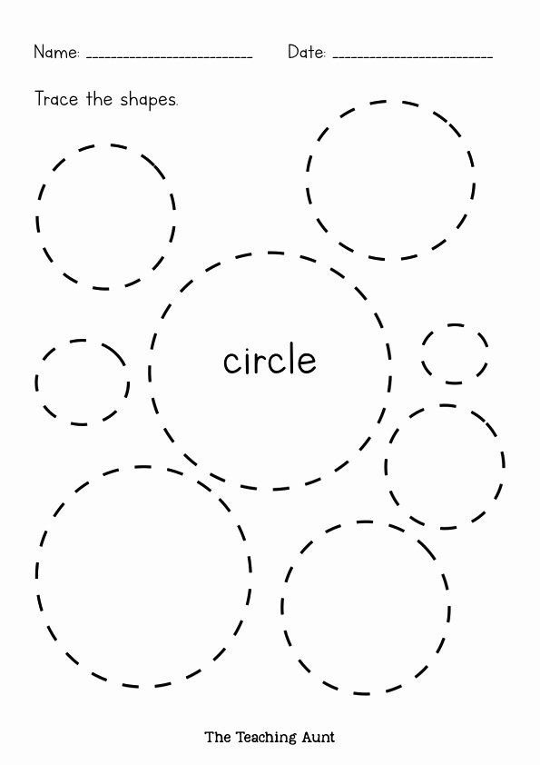 Circle Shape Worksheets for Preschoolers Lovely Shapes Tracing Worksheets Free Printable the Teaching Aunt