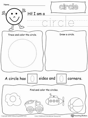Circle Shape Worksheets for Preschoolers New All About Circle Shapes