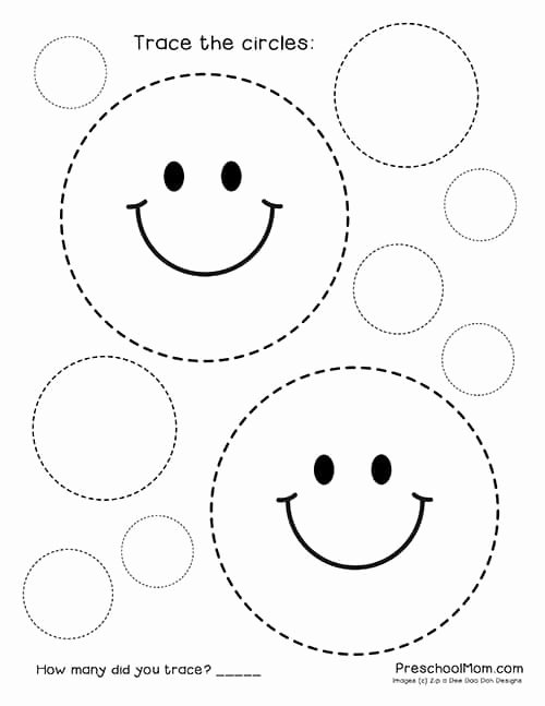 Circle Shape Worksheets for Preschoolers New Shape Tracing Worksheets Preschool Mom