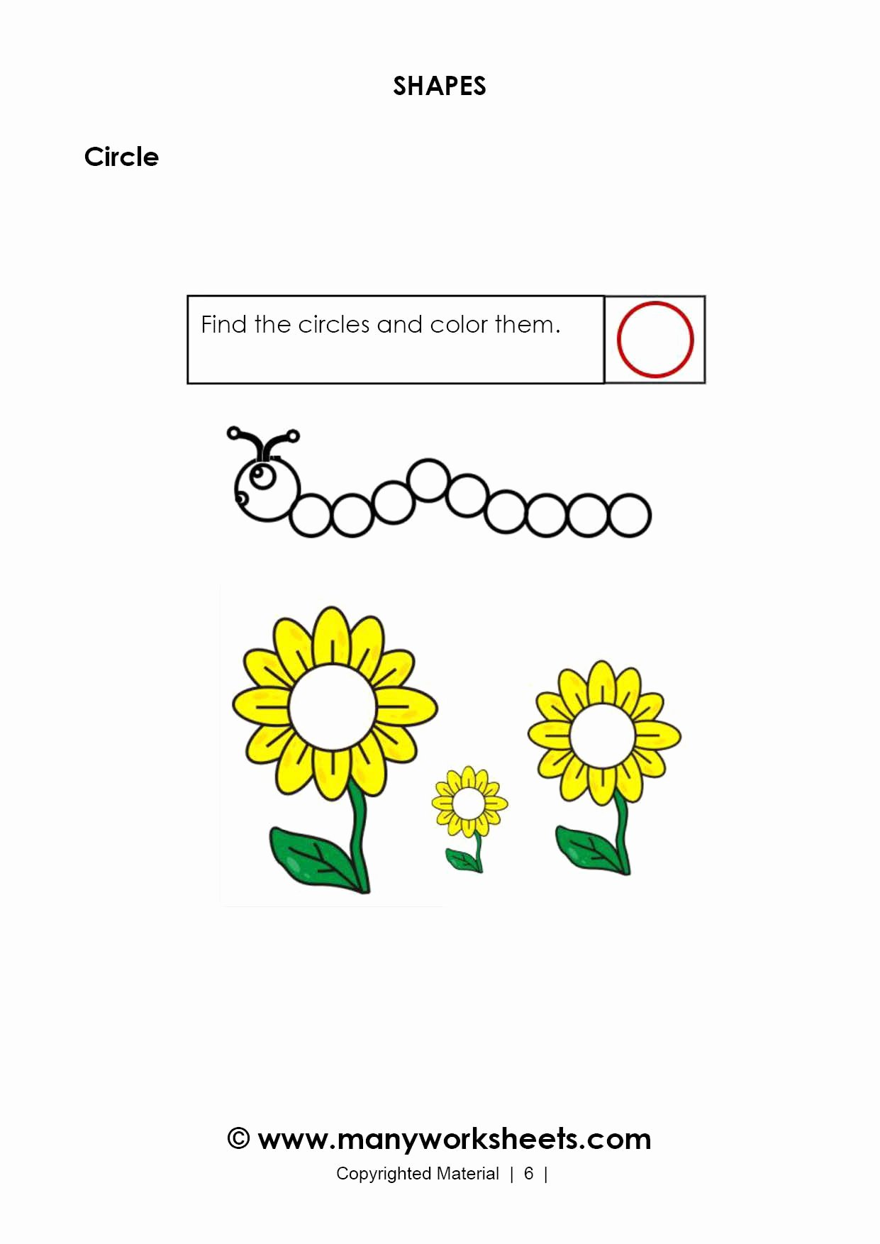 Circle Shape Worksheets for Preschoolers top Recognizing Circle Shape Worksheet