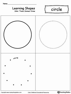 Circle Shape Worksheets for Preschoolers Unique Learning Shapes Color Trace Connect and Draw A Circle