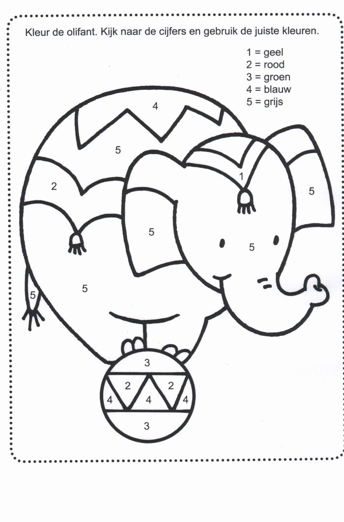 Circus Worksheets for Preschoolers Awesome Circus Color by Number Worksheets