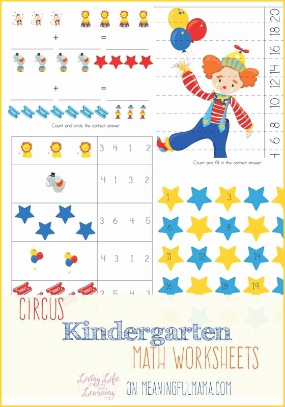 Circus Worksheets for Preschoolers Beautiful Addition Circus Math Worksheets
