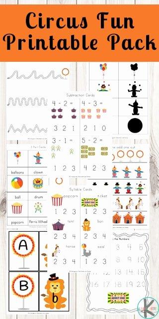 Circus Worksheets for Preschoolers Fresh Free Circus Worksheets