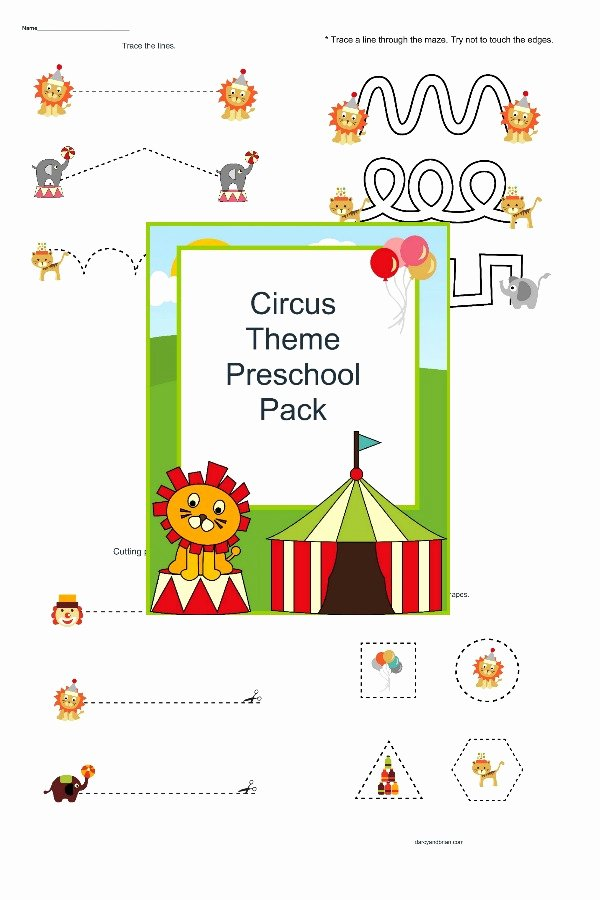 Circus Worksheets for Preschoolers Fresh Step Right Up Fun Preschool Circus Printables for Free