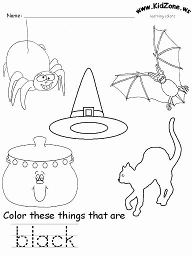 Color Black Worksheets for Preschoolers Fresh Black Color Worksheet