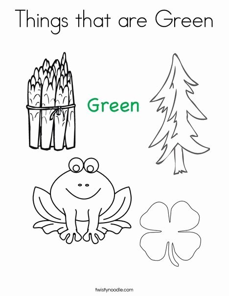 Color Green Worksheets for Preschoolers Beautiful Things that are Green Coloring Page