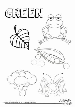 Color Green Worksheets for Preschoolers top Colour Collection Colouring Pages