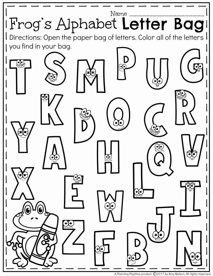 Color Recognition Worksheets for Preschoolers Fresh Printables Preschool Recognition Kindergarten Letter Games
