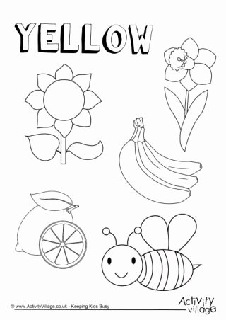 Color Yellow Worksheets for Preschoolers Beautiful Colour Collection Colouring Pages