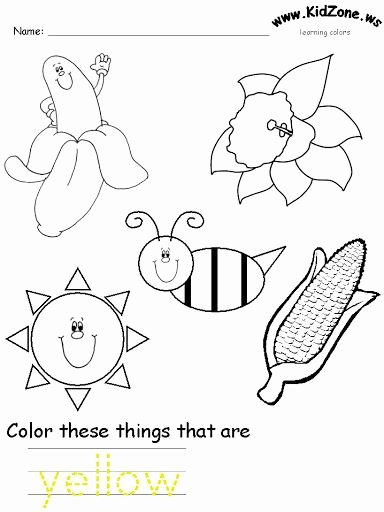 Color Yellow Worksheets for Preschoolers Best Of Yellow Color Worksheet