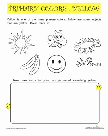 Color Yellow Worksheets for Preschoolers Inspirational Color Activity Sheets Preschool Color Black Worksheet Free