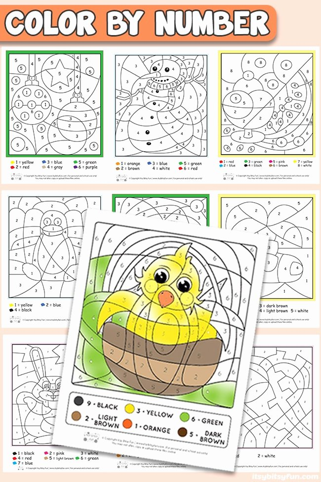 Coloring Activity Worksheets for Preschoolers Awesome Free Printable Color by Number Worksheets Itsybitsyfun