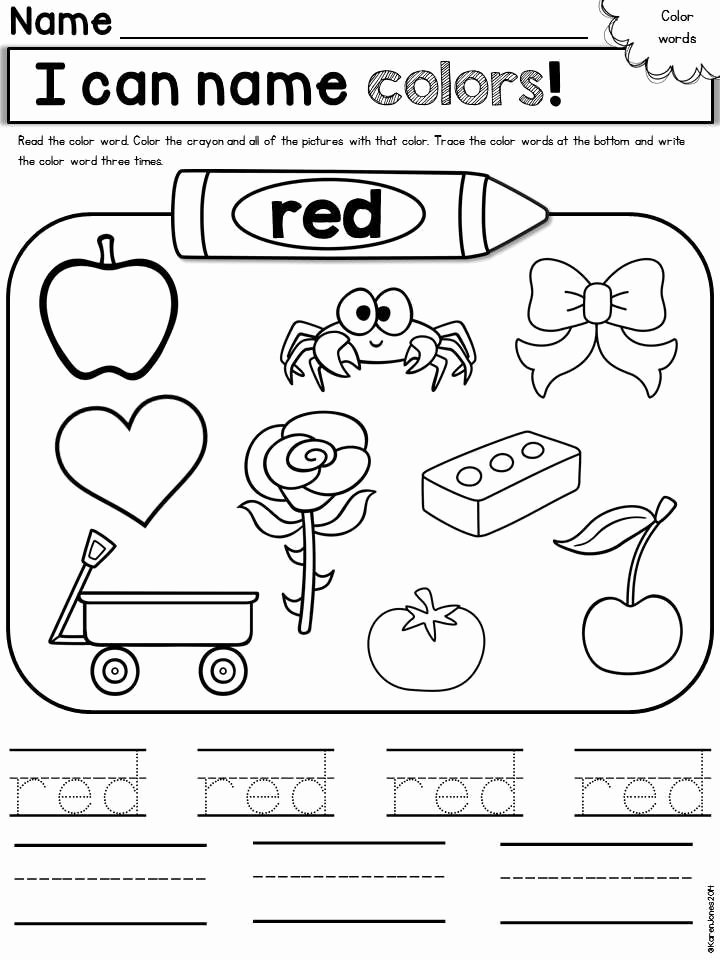 Coloring Activity Worksheets for Preschoolers Fresh Color Worksheets Printable Coloring Page