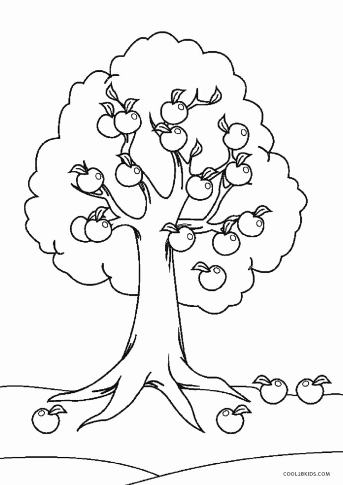 Coloring Activity Worksheets for Preschoolers Lovely Coloring Printable Tree for Kids Fun Worksheets Preschool