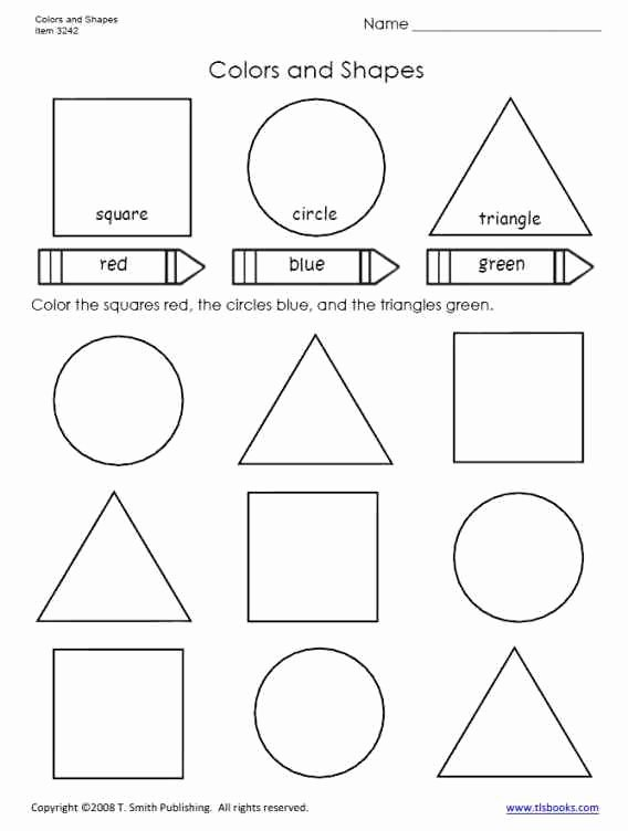 Colors and Shapes Worksheets for Preschoolers Fresh Colors and Shapes Worksheet for Primary Grades Preschool