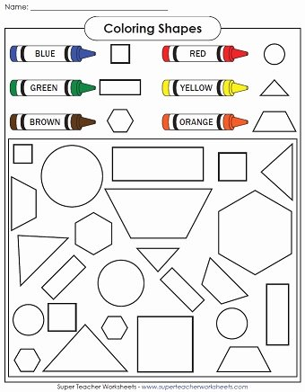 Colors and Shapes Worksheets for Preschoolers Lovely Kindergarten Worksheets Basic Shapes