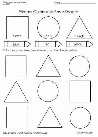 Colors and Shapes Worksheets for Preschoolers Unique Primary Colors and Basic Shapes Worksheet