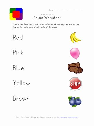 Colour Matching Worksheets for Preschoolers Awesome Printable Color Matching Worksheet