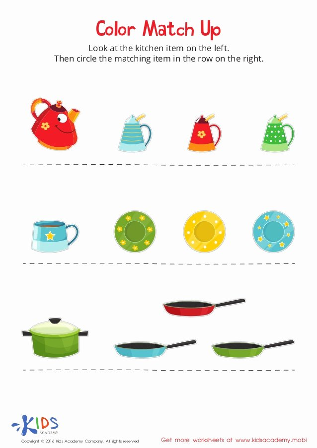 Colour Matching Worksheets for Preschoolers Beautiful Matching Colors for Kids Free Printable Worksheet