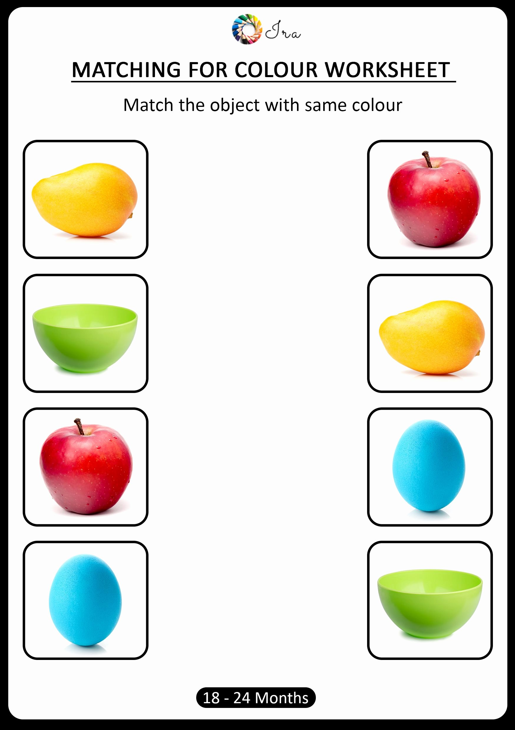 Colour Matching Worksheets for Preschoolers Beautiful Pin On 2019