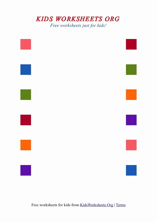 Colour Matching Worksheets for Preschoolers Best Of Kids Matching Worksheets with Colors