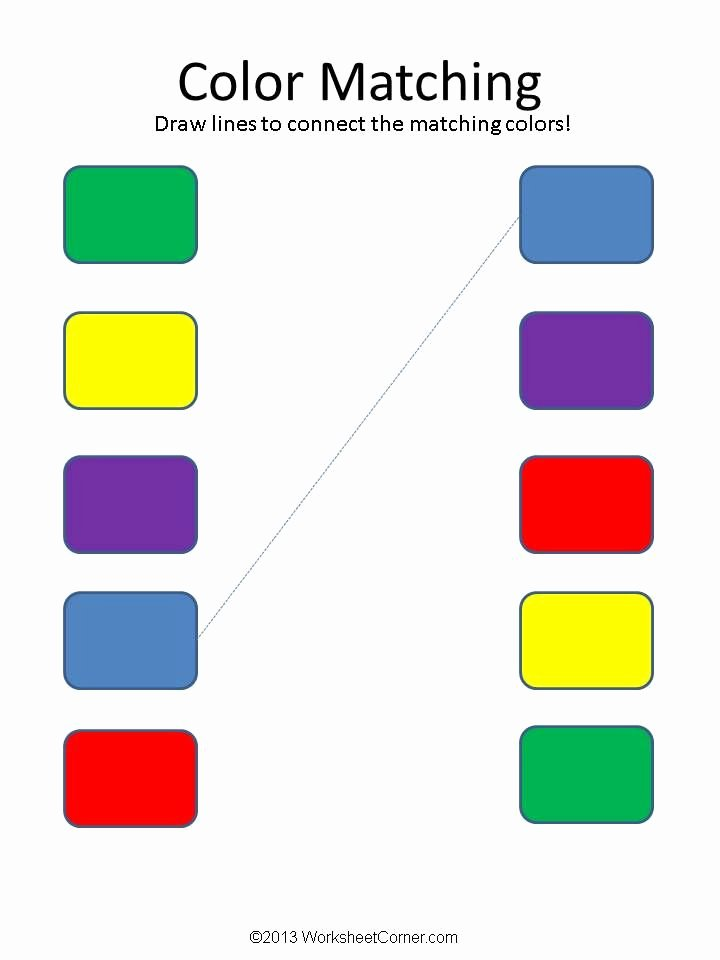 Colour Matching Worksheets for Preschoolers Unique Matching Worksheets Color Matching Worksheets