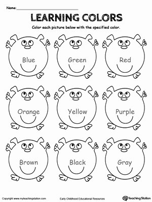 Colour Worksheets for Preschoolers Awesome Preschool Art and Colors Printable Worksheets
