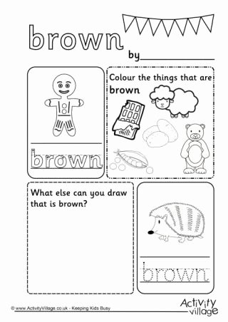 Colour Worksheets for Preschoolers Fresh Colour Worksheets