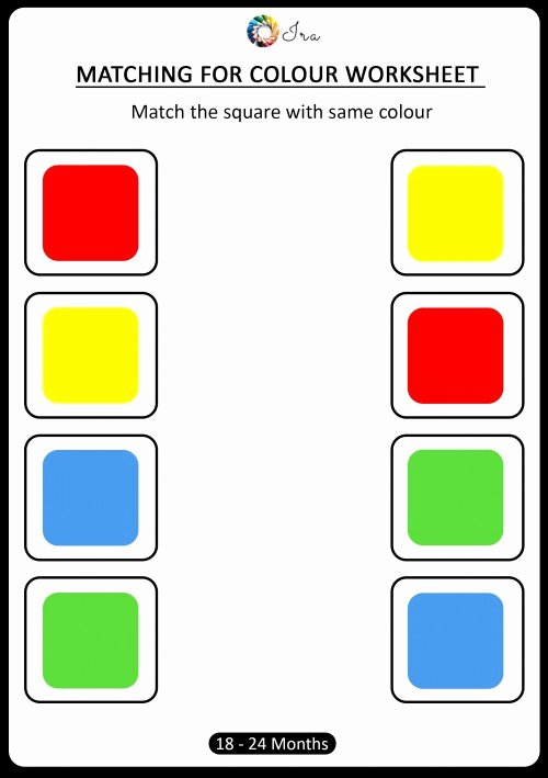 Colour Worksheets for Preschoolers Fresh Free Downloadable Matching Colors Worksheets 18 24 Months