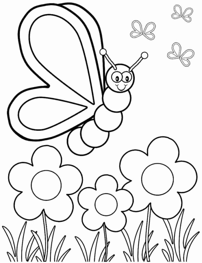 Colour Worksheets for Preschoolers Inspirational Coloring Pages Spring Coloring for Preschoolers Free