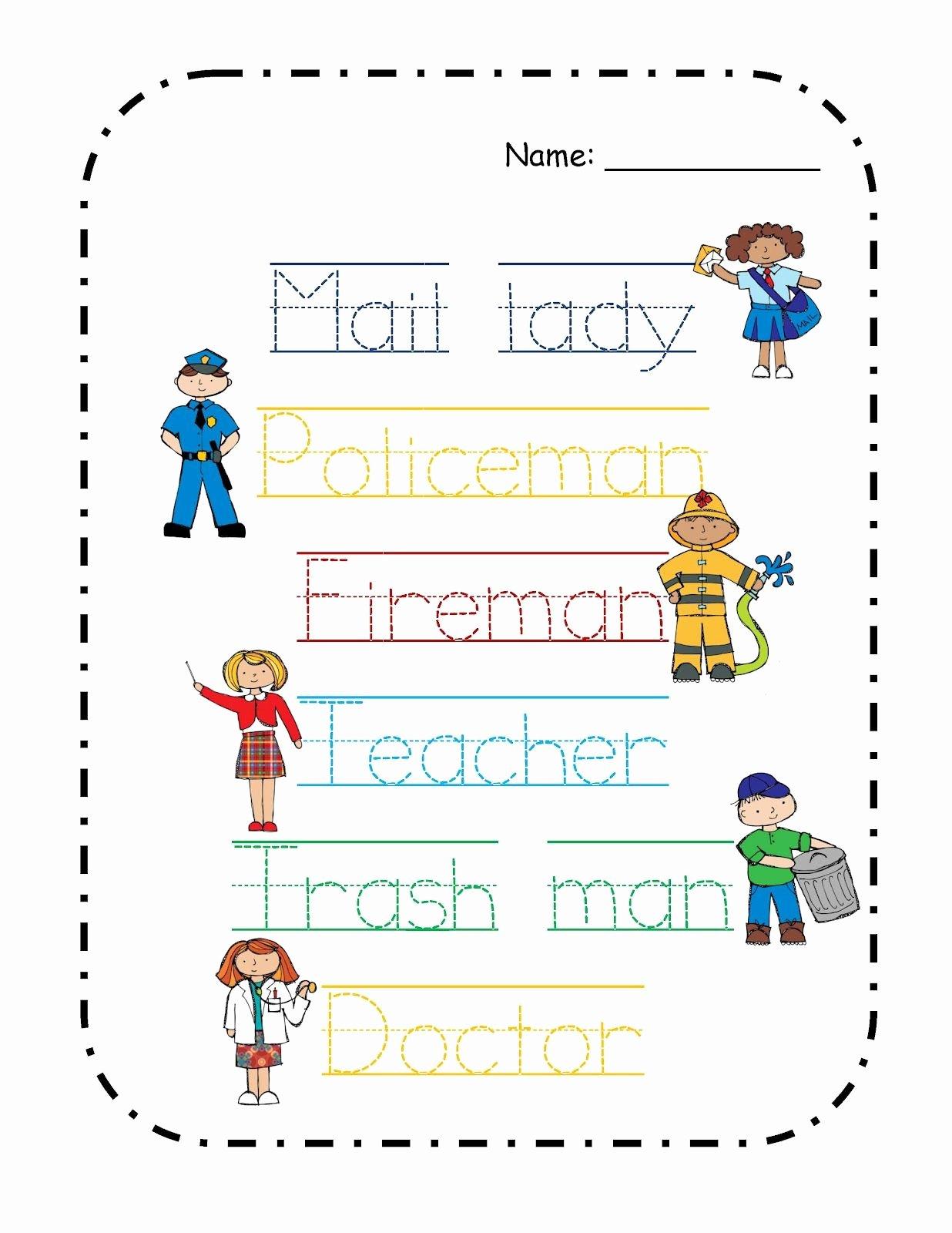 Community Helpers Worksheets for Preschoolers Awesome Preschool Printables Free Munity Helper S theme