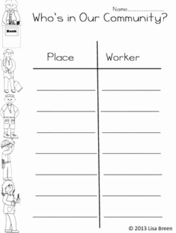 Community Helpers Worksheets for Preschoolers Inspirational Munity Helpers Worksheet