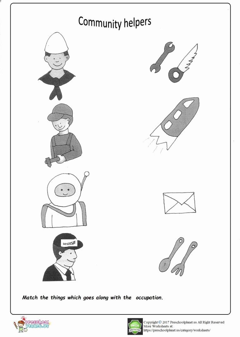 Community Helpers Worksheets for Preschoolers top Munity Helpers Worksheet – Preschoolplanet