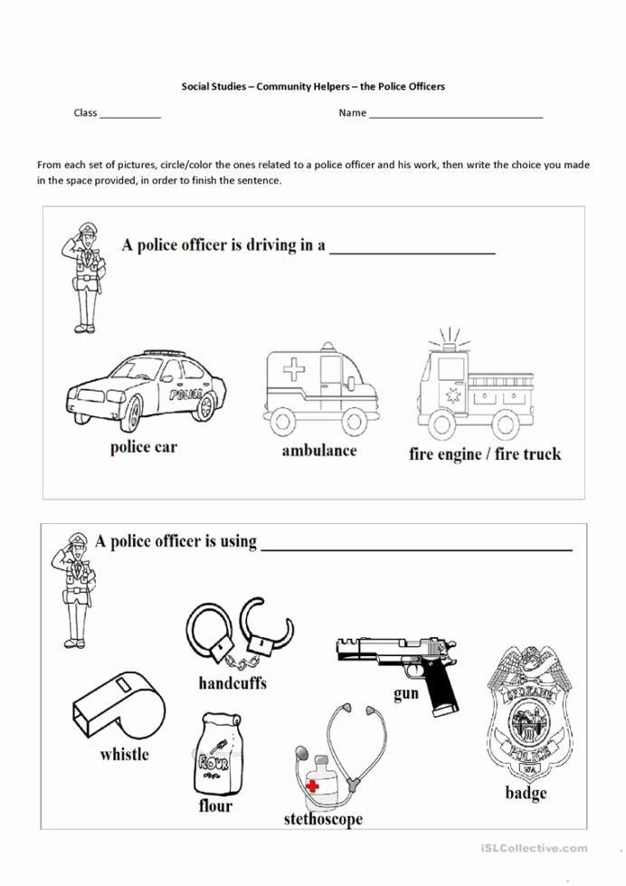 Community Helpers Worksheets for Preschoolers Unique English Esl Munity Helpers Worksheets Most Downloaded the