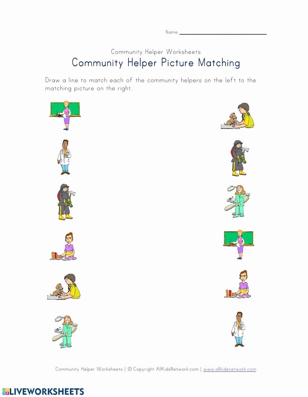 Community Helpers Worksheets for Preschoolers Unique Munity Helpers Interactive Worksheet