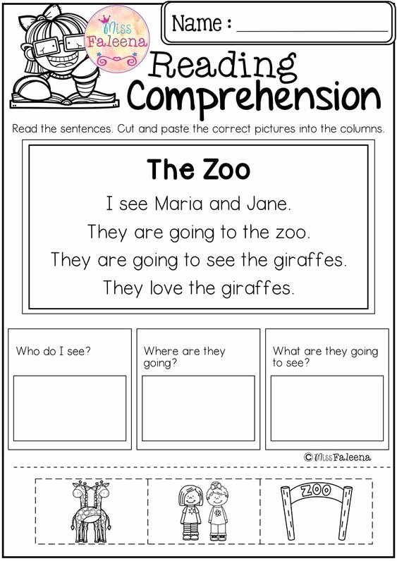 Comprehension Worksheets for Preschoolers Awesome Coloring Pages Free Kindergarten Reading Prehension