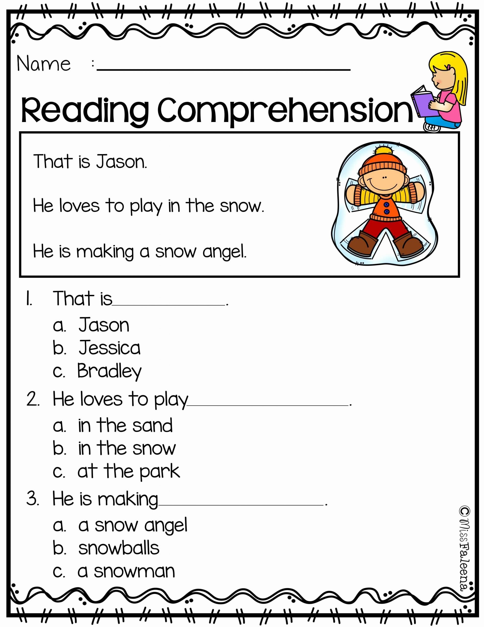 Comprehension Worksheets for Preschoolers Fresh Free Reading Prehension