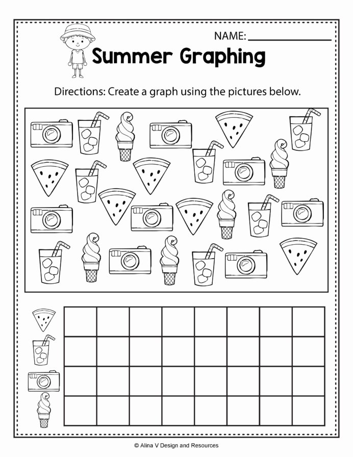 Concept Worksheets for Preschoolers Beautiful Summer Graphing Math Worksheets and Activities for
