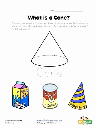Cone Worksheets for Preschoolers Awesome Cone Worksheet