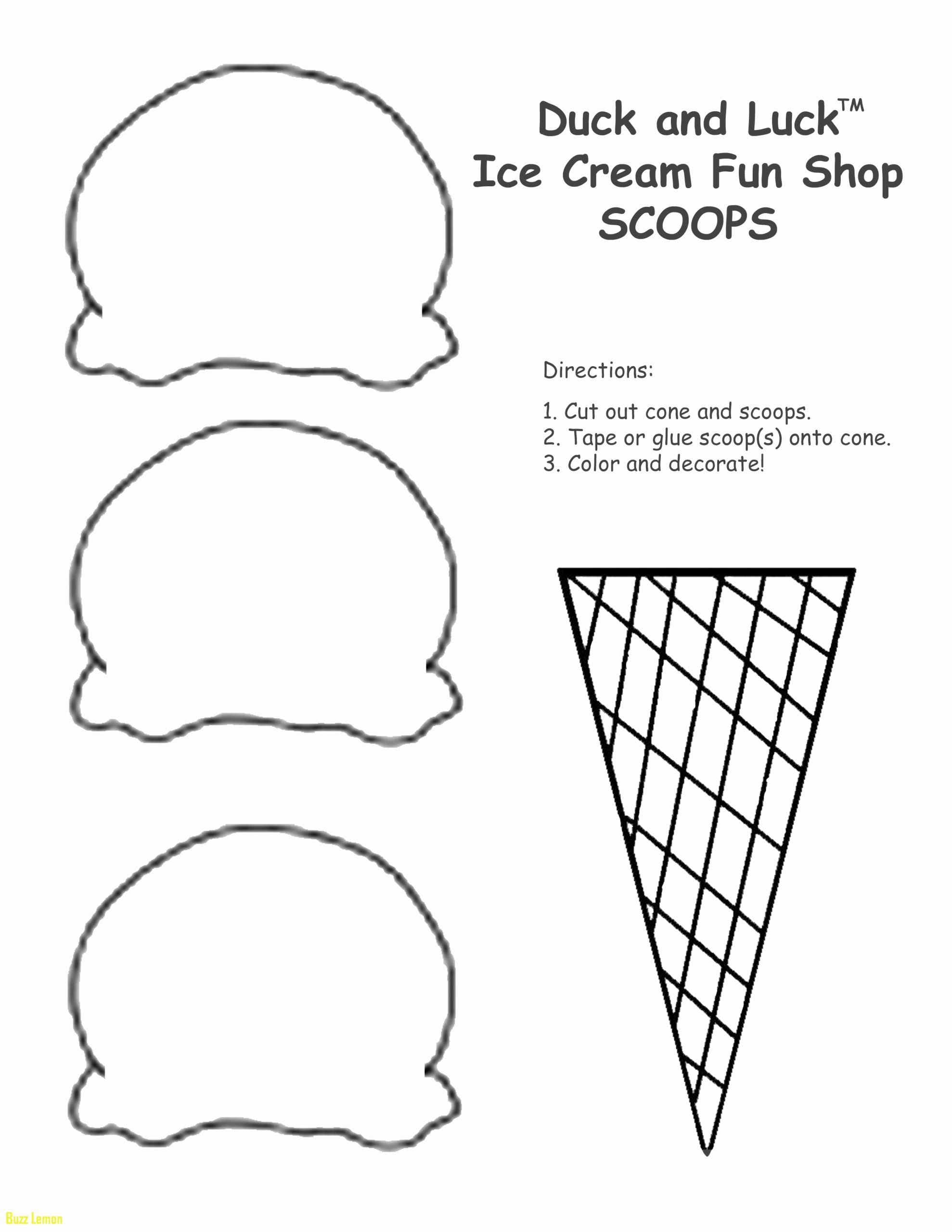 Cone Worksheets for Preschoolers Best Of Printable Coloring Ice Cream Cone Free Worksheets to Print