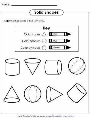 Cone Worksheets for Preschoolers Best Of solid Shapes Worksheets Very Basic