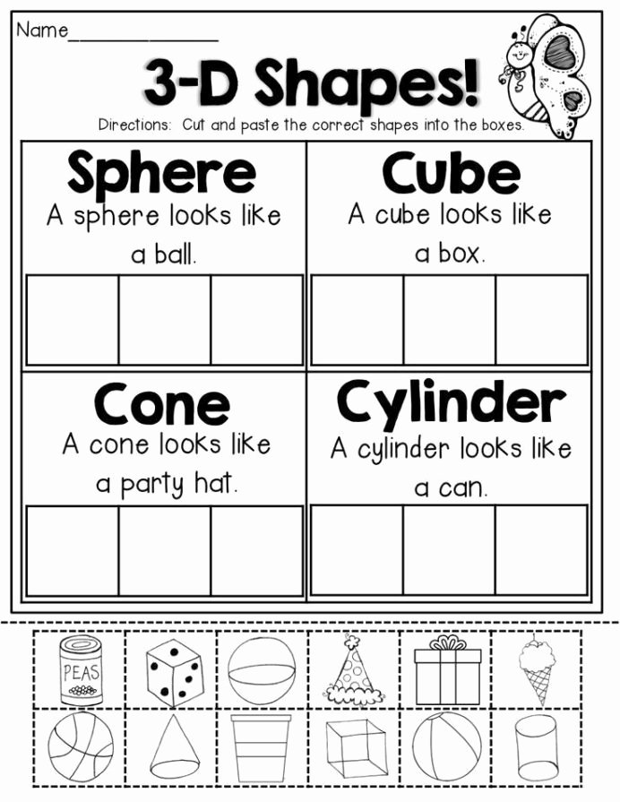 Cone Worksheets for Preschoolers Fresh Arithmetic Addition Kindergarten Cut and Paste Math